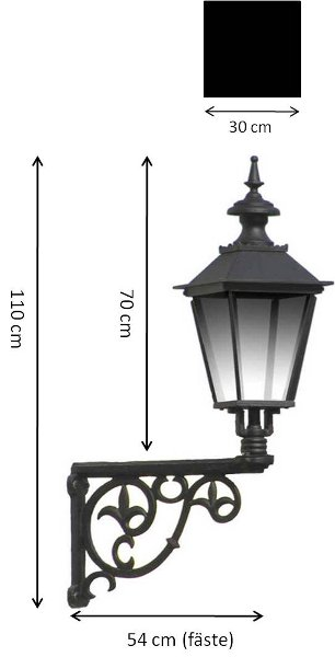 Exterior Lamp - Wall lantern Solliden M4 - old fashioned style - vintage