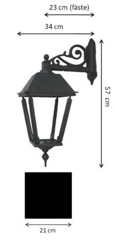Exterior Lamp - Wall lantern Sollerö L4 down - old style - vintage style