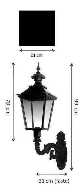 Utomhuslampa - Fasadlykta Glimmerö M4 - gammal stil - klassisk stil