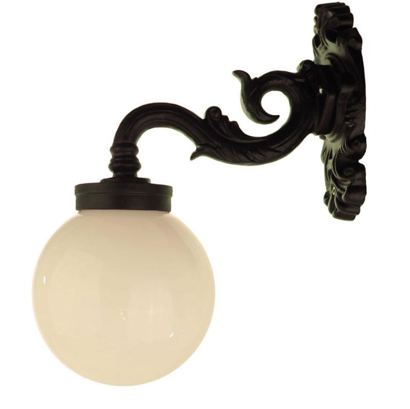 Exterior Lamp - Wall lantern Glimmerö white globe shade down