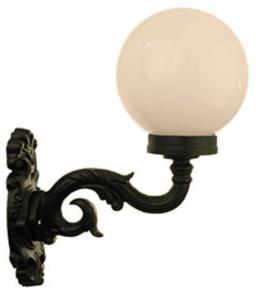 Utomhuslampa - Fasadlykta Glimmerö vit klotskärm