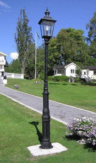 Trädgård trädgård sekelskifte : Lyktstolpe LjusÃ¥ gjutjärn - Klassisk trädgÃ¥rdsbelysning - Sekelskifte