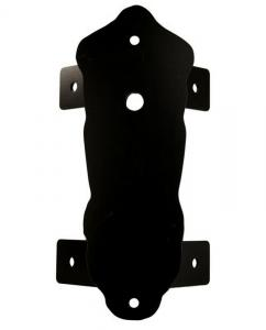 Corner wall mount in black throw - For Solvik