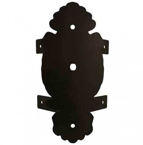 Corner wall mount in black throw - For Glimmerö