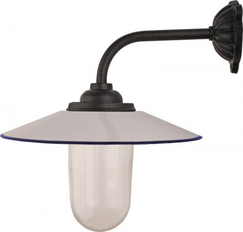 Exterior Lamp - Stable lamp 90° short, white shade