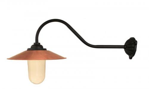 Exterior Lamp - Stable lamp 90° hook, copper shade