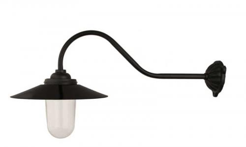 Exterior Lamp - Stable lamp 90° hook, black shade