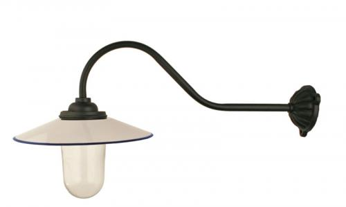 Exterior Lamp - Stable lamp 90° hook, white shade