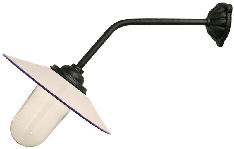 Utomhuslampa - Stallampa 45° rak lång - sekelskiftesstil - gammaldags inredning - klassisk stil - retro