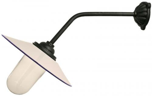 Exterior Lamp - Stable lamp 45° straight long, white shade