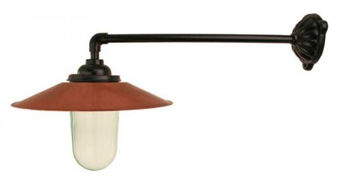 Exterior Lamp - Stable lamp 90°, copper shade