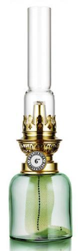 Parafinlampe - Koholmen, jadegrønn