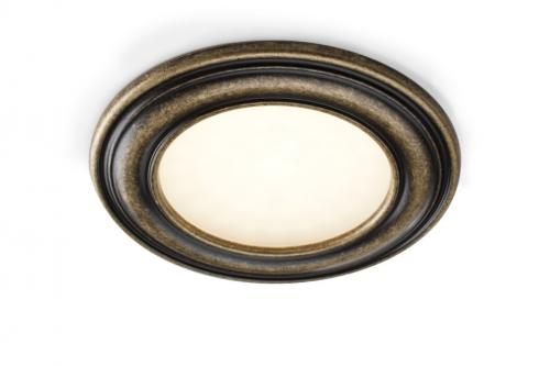 Spotlight - Round, antique bronze