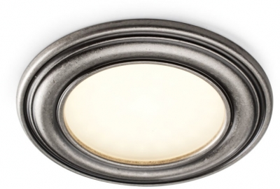 Spotlight - Round, antique tin