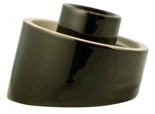 Porcelain light fixture base IP20 - Black/angled