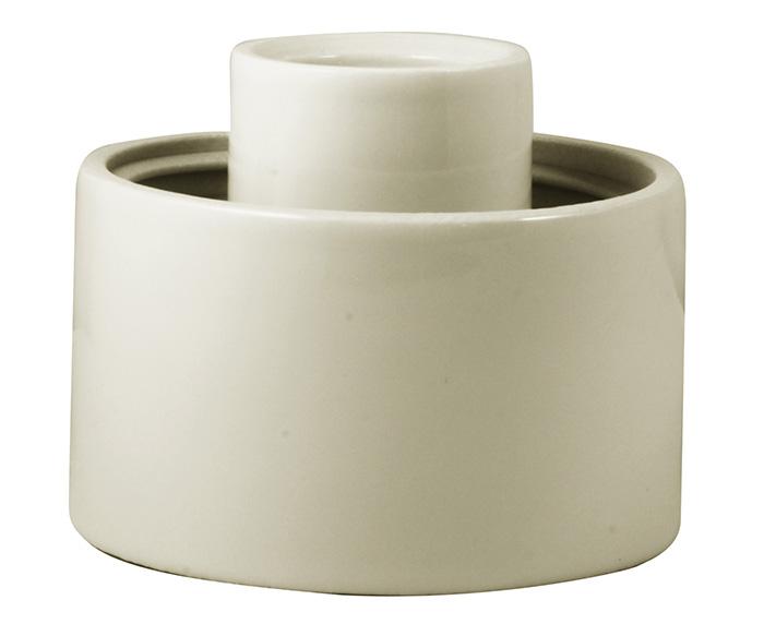 Porcelain light fixture base IP54 - White/vertical
