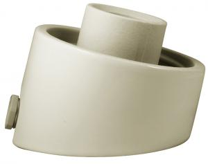 Porcelain light fixture IP54 - White/angled/cableway