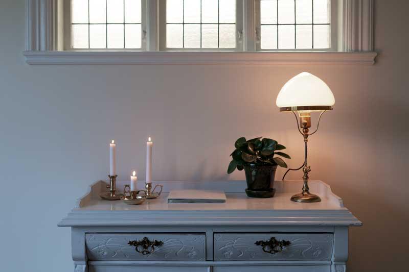 Ljusstake mässing - Bordsljusstake liten - gammaldags inredning - klassisk stil - retro - sekelskifte