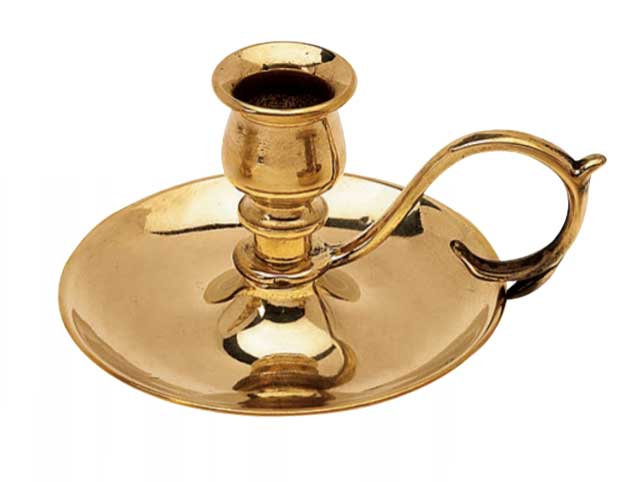 Candlestick - Brass small - old style - classic interior - old fashioned style - vintage