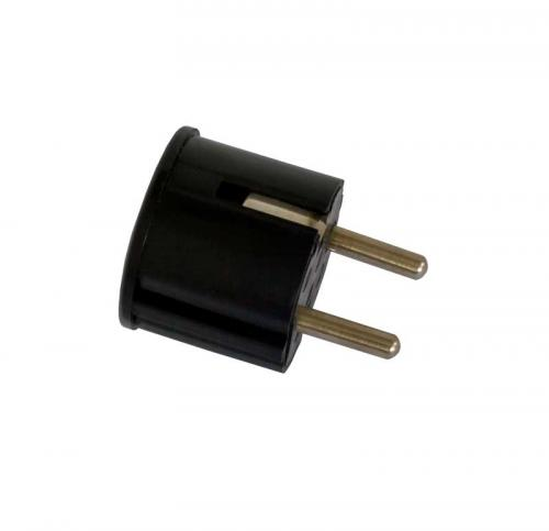 Wall plug with earth - Black