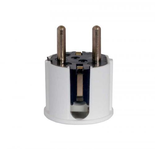 Wall plug with earth - White