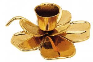 Candlestick - Shamrock brass