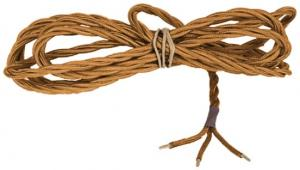 Textile cord - Gold-coloured twisted 3-leading