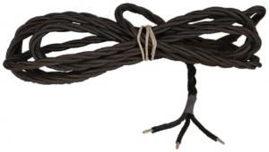 Textile cord - Black twisted 3-leading