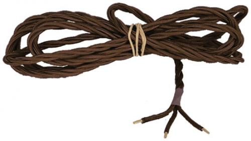 Textile cord - Brown twisted 3-leading