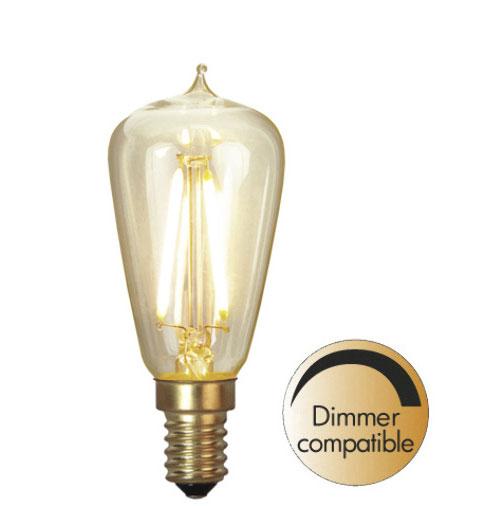 LED-lampa - Sekelskifte mini E14 38 mm, 120 lm - gammaldags inredning - klassisk stil - retro -sekelskifte