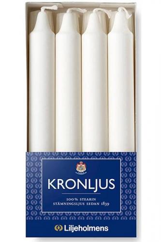 Liljeholmens Crown candle - 8-pack white