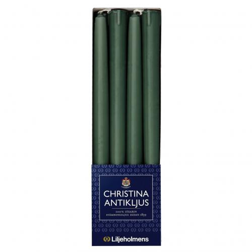 Liljeholmens Christina antique candle 8-p dark green