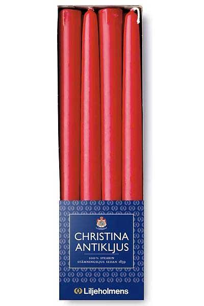 Liljeholmens Christina antique candle 8-p red