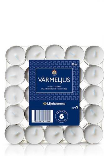Liljeholmens Tealight - 50 p white