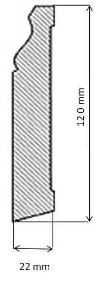 Golvsockel - Klassisk 120 mm - klassisk inredning - gammaldags