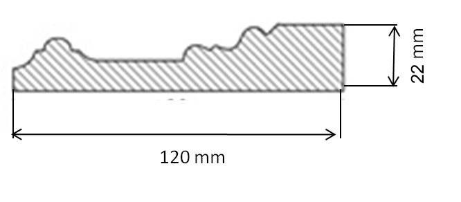 Classic Architrave - Mäster 120 mm