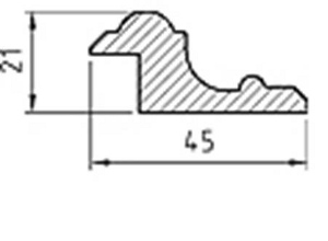 List - Helfransk dörrspegellist - sekelskifte - gammaldags stil