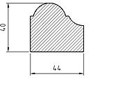 List - Fönsterbordlist traditionell - sekelskifte - gammaldags stil