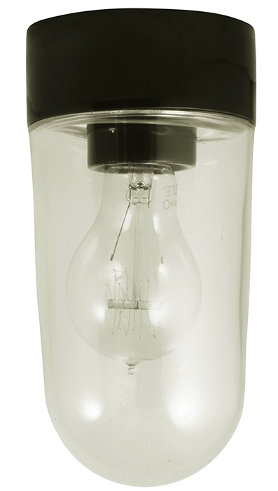 Porcelain light fixture IP20 - Black/vertical