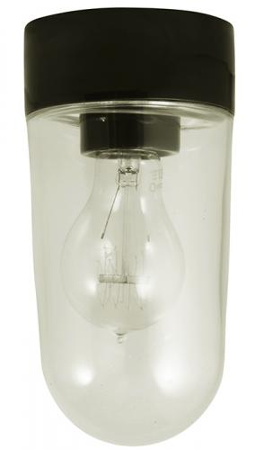 Porcelain light fixture IP20 - Black/vertical