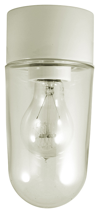 Porcelain light fixture IP54 - White/vertical