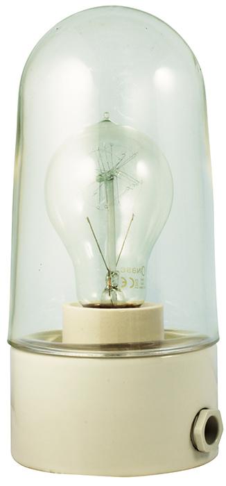Porselenslampe utendørs/våtrom - IP54/kulo/hvit/rett - arvestykke - gammeldags dekor - klassisk stil - retro