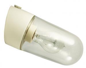 Porselemslampe utendørs/våtrom IP54 hvit/skrå