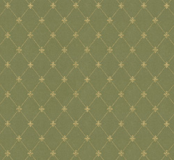 Wallpaper - Filipsborg grön/guld - retro - vintage style - old fashioned