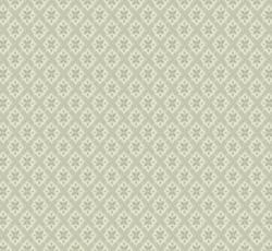 Lim & Handtryck Tapet - Mölletorp grön/vit - retro - gammal stil - klassisk stil