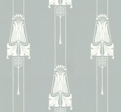 Wallpaper - Slottsviken blå/vit