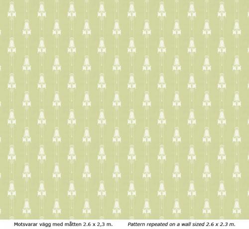 Wallpaper - Slottsviken grön/vit