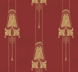 Wallpaper - Slottsviken röd/guld
