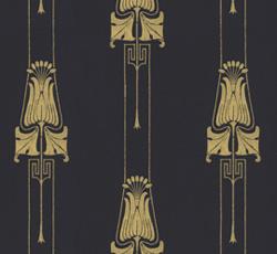 Wallpaper - Slottsviken svart/guld