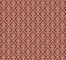 Lim & Handtryck Tapet - Liten lilja kvist/röd - sekelskifte - gammal inredning